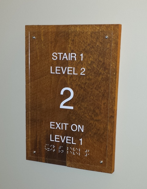 Albany RV Means of Egress Stairwell Sign by DNASigns.com