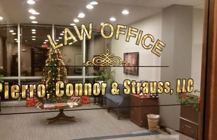 Turngold with Black Outline Law Office Glass Door Lettering