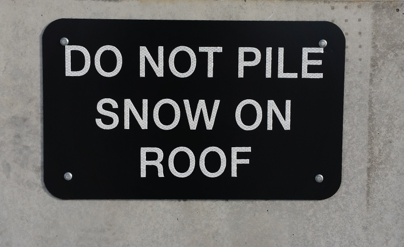 .080 Aluminum Panel DO NOT PILE SNOW by DNASigns.com